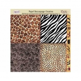 Papel decoupage safari Dayka