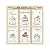 Papel decoupage bolos cup cakes Dayka