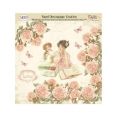 Papel decoupage reading love Dayka