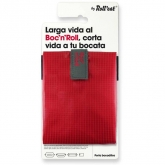 Porta bocadillos reutilizable Boc'n'Roll SQ color rojo