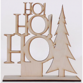 Placa decorativa Ho Ho Ho! reto