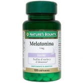 Melatonina 1 mg Nature's Bounty, 100 comprimidos