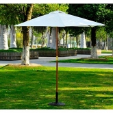 Sombrilla Parasol color crema 250 x 225 cm