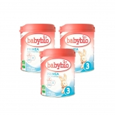Pack 3x Leche Primea 3 (10 meses a 3 años) Babybio 800 g