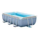Piscina desmontable rectangular Intex - Prisma Frame - 400x200x100 cm - 6.836 litros
