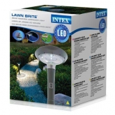 Lámpara led Intex con panel solar 20x20x76 cm