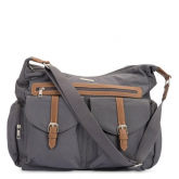 Bolsa Vegana Rambler Satchel Grey Little Unicorn