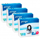 Pack 4x Pañales Pingo T4 (7-18kg) 160 unidades