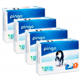 Pack 4x Pañales Pingo T3 (4-9kg) 176 unidades